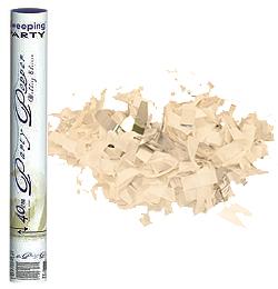 40 cm-es, Fehér és Ezüst Téglalap Konfettiket Kilövő Esküvői Konfetti Ágyú