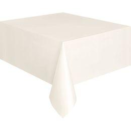 Ivory Műanyag Parti Asztalterítő - 137 cm x 274 cm