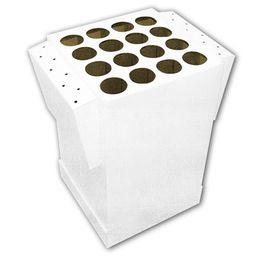 Fehér Kartonpapír Doboz Padló Display - 43 cm x 58 cm x 70 cm