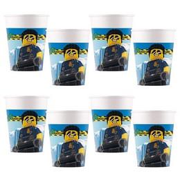 Lego City Parti Pohár - 8 db-os, 200 ml