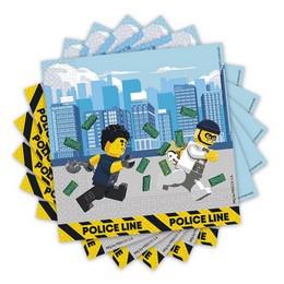 Lego City Parti Szalvéta - 20 db-os, 33 cm x 33 cm