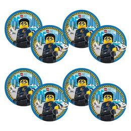 Lego City Parti Tányér - 8 db-os, 23 cm