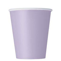 Lavender Papír Parti Pohár - 270 ml, 8 db-os