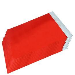 Lezárható Metál Fényes Piros Ajándéktasak - 25 cm x 40 cm, 50 db/csomag