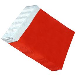 Lezárható Metál Fényes Piros Ajándéktasak - 25 cm x 50 cm, 50 db/csomag