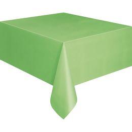 Lime Green Műanyag Parti Asztalterítő - 137 cm x 274 cm
