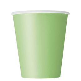 Lime Green Papír Parti Pohár - 270 ml, 8 db-os