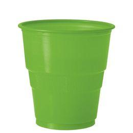Lime Green Műanyag Parti Pohár - 270 ml, 12 db-os