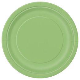 Lime Green Papír Parti Tányér - 23 cm, 8 db-os
