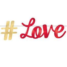 #LOVE Parti Betűfüzér - 365 cm