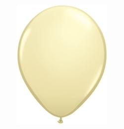 5 inch-es Ivory Silk (Fashion) Kerek Lufi (100 db/csomag)