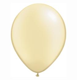 5 inch-es Pearl Ivory Kerek Lufi (100 db/csomag)