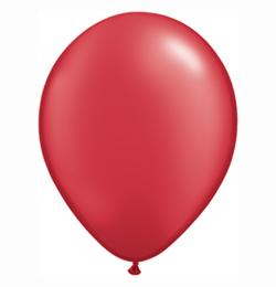 5 inch-es Pearl Ruby Red Kerek Lufi (100 db/csomag)
