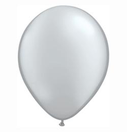 5 inch-es Silver (Metallic) Kerek Lufi (100 db/csomag)