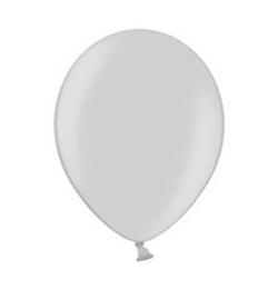 12 inch-es Metallic Silver - Ezüst Kerek Lufi (100 db/csomag)