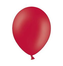 11 inch-es Pastel Red - Piros Kerek Lufi (100 db/csomag)
