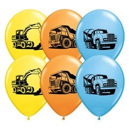 11 inch-es Munkagépek - Construction Trucks Special Asst. Lufi (25 db/csomag)