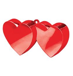 Piros (Red) Dupla Szív Léggömbsúly - 170 gramm