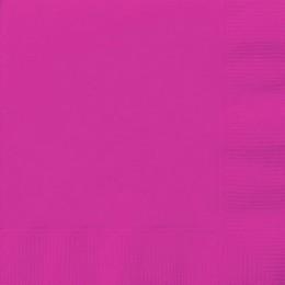 Magenta Rózsaszín Papír Parti Szalvéta - 33 cm x 33 cm, 20 db-os