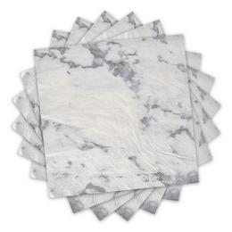 Marble - Márvány Mintás Papír Parti Szalvéta - 33 cm x 33 cm, 16 db-os