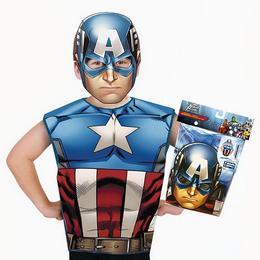Marvel - Amerika Kapitány Jelmez Kiegészítő Szett, 3-6 Éveseknek