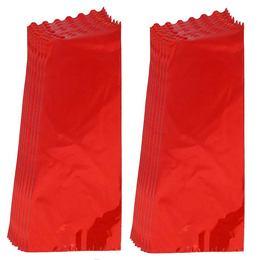 Metál Fényes Piros Ajándéktasak Palackos Italokhoz - 18 cm x 50 cm, 50 db/csomag