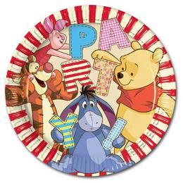 Micimackó és Barátai - Winnie The Pooh Parti Tányér - 23 cm, 8 db-os