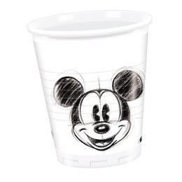 Mickey Faces Parti Pohár - 200 ml, 25 db-os
