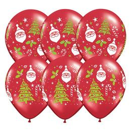 11 inch-es Santa & Christmas Tree Karácsonyi Lufi (50 db/csomag)