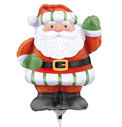 Whimsical Santa Mini Shape Télapós Fólia Lufi (5 db/csomag)