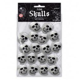 Mini Koponyák Dekoráció Halloween-ra, 18 db-os