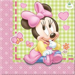 Minnie Baby Parti Szalvéta - 20 db-os, 33 cm x 33 cm