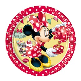 Minnie Cafe Parti Tányér - 20 cm, 8 db-os