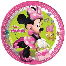 Minnie Happy Helpers Parti Tányér - 23 cm, 8 db-os