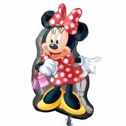 Minnie Mouse Full Body - Minnie Egér Pöttyös Ruhában Super Shape Fólia Lufi