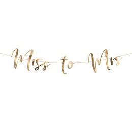 Miss to Mrs Rosegold Dekorációs Esküvői Füzér - 2 m-es