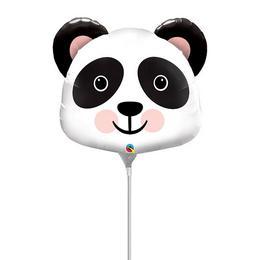 14 inch-es Mosolygó Panda Fej - Precious Panda Fólia Lufi (5 db/csomag)