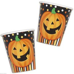 Mosolygó Tök Halloween Parti Pohár - 270 ml, 8 db-os