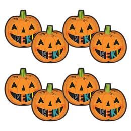 Mosolygó Tök Mintás Tányér Halloween-re - 27 cm, 8 db-os