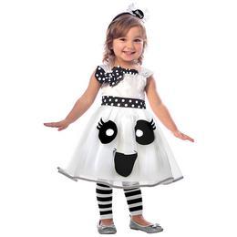 Mosolygós Szellem Lányka Jelmez Halloweenre - 3-4 éveseknek