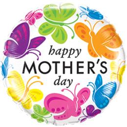 18 inch-es Mother's Day - Anyák Napi Pillangós Fólia Lufi
