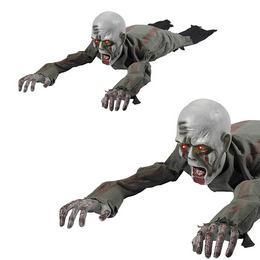 Mozgó-Kúszó Világitó Szemű Zombi Halloween Dekoráció