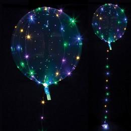 Multi LED Fényű Világító Clearz Lufi