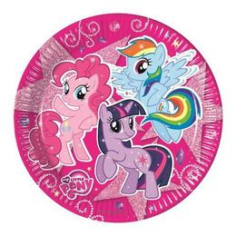 My Little Pony Sparkle Parti Tányér - 23 cm, 8 db-os