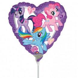 9 inch-es My Little Pony Heart Szív Fólia Mini Shape Lufi (5 db/csomag)