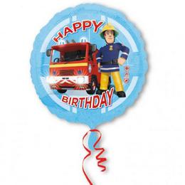 18 inch-es Fireman Sam Happy Birthday Szülinapi Fólia Lufi