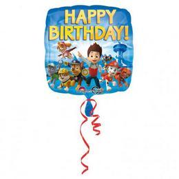 18 inch-es Paw Patrol - Mancs Őrjárat Happy Birthday Szülinapi Fólia Lufi