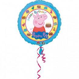 18 inch-es Peppa Pig - Peppa Malac Happy Birthday Szülinapi Fólia Lufi