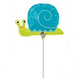 Happy Snail - Boldog Csiga Mini Shape Fólia Lufi (5 db/csomag)