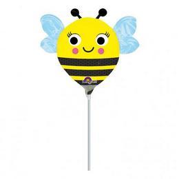 Happy Buzz n Bee - Boldog Méhecske Mini Shape Fólia Lufi (5 db/csomag)